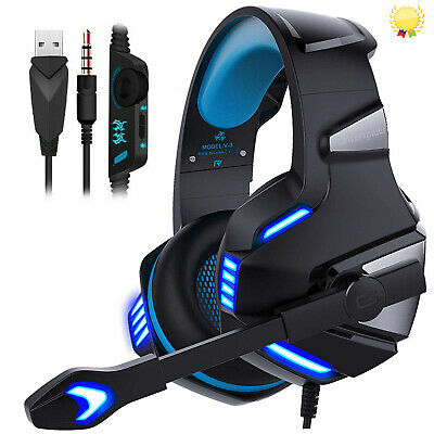 Hunterspider Gaming Headset Mic LED V-3 Headphones For PC PS4 PRO Xbox one X S