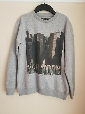 Sonneti Boys Sweatshirt Jumper Top Light Grey New York Design Age 10-12 Years