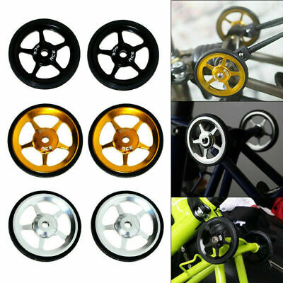 2Pc Aluminum Alloy Rubber Easy Wheels Titanium Bolts for Brompton Folding Bike