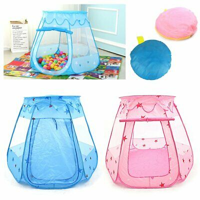 Pink Blue Starry Pop Up Fun Play Tent Playhouse Girl Kids Baby Children UK GIFTS