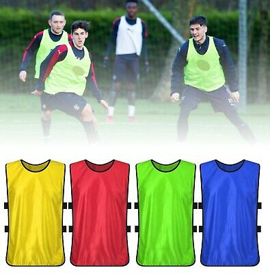 SPORTS Training Bibs Football Rugby Cricket Soccer SHIRTS Adult Youth Kids Sizes