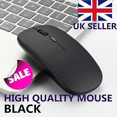 Slim Wireless Cordless Rechargeable 2.4GHz Mouse Optical Scroll For PC Laptop UK