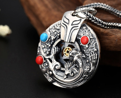 S925 Pure Silver Jewelry Fashion Classic Mythical Animal Wild Jewelry Hollow