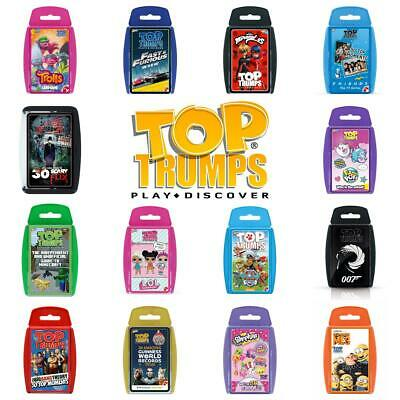 Top Trumps TV and Film Card Games - Brand New & Sealed Direct from Manufacturer