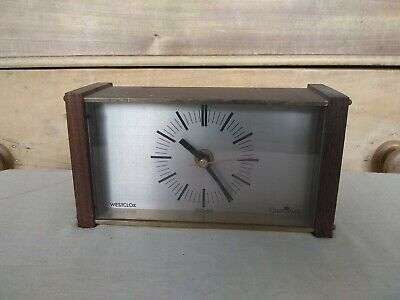 Vintage  retro Westclox Quartzmatic  Clock in good working order 17x6x9cm high