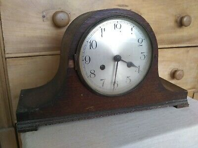Large Vintage Wooden mantle  Clock 38x13x22cm high