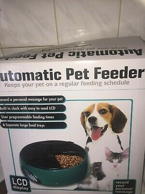 Pet Automatic Feeder Dispenser 6 Meals Capacity With Voice Recorder