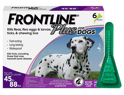 FRONTLINE PLUS Flea & Tick Control for Large Dog 45-88 lbs, 6 Month