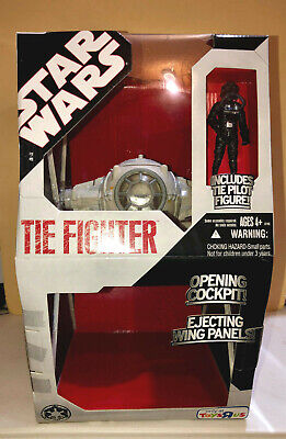 Star Wars Hasbro 2008 Toys R Us Tie Fighter Exclusive 30Th Anniversary White Nib