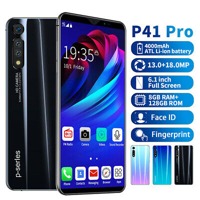 "6.1"" P41 Pro 8+128G Android Face ID Unlocked Mobile Smart Phone 10 Core Dual SIM"