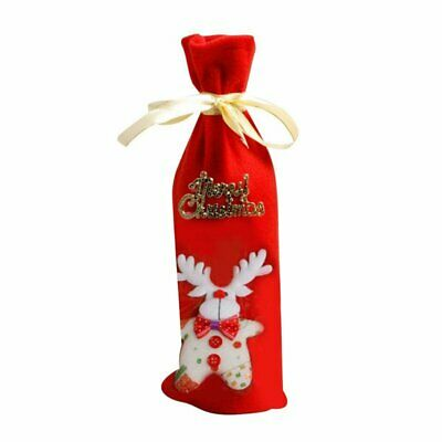 Christmas Decoration Xmas Elk Wine Bottle Cover Bags Dinner Party Table Decor
