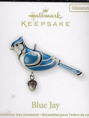 Hallmark Miniature Blue Jay Ornament Mini The Beauty of Birds 2012 NEW