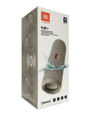 New JBL Flip 4 Waterproof Portable Bluetooth Speaker Gray