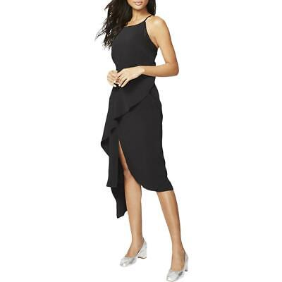 Rachel Rachel Roy Womens Black Ruffled Sleeveless Tunic Dress S BHFO 2591