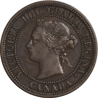 1881-H One Cent Canada Km-7 - High Grade Example!