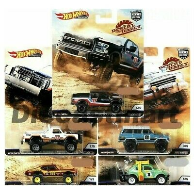 Hotwheels 1:64 Car Culture 2019 Desert Rally Set of 5 FPY86-956K Ford Jeep Dodge