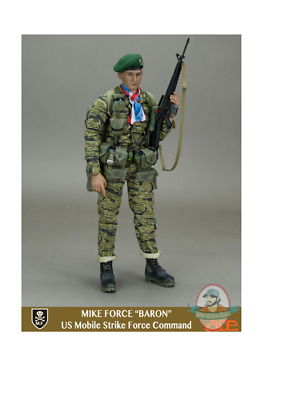 ACE Action Figures Mike Force Baron 1//6 Scale Red White /& Blue Scarf