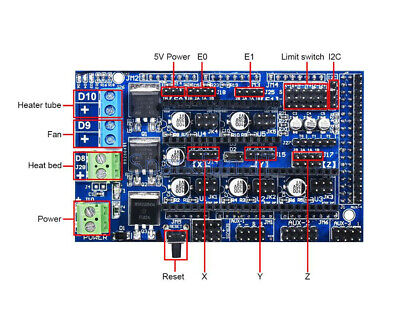 3D Printer Controller Board for RAMPS 1.6 Upgrade Base On Ramp 1.4 1.5 NEW