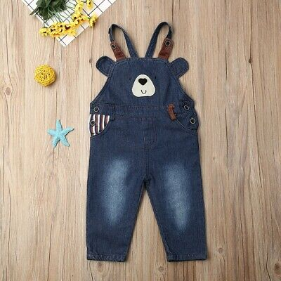 Baby Girls Kids Autumn Jeans Denim Overalls Jumpsuit Dungarees Outfits Clothes