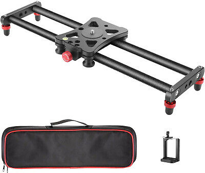 Neewer Compact Carbon Fiber Camera Track Slider Video Stabilizer Rail 40cm