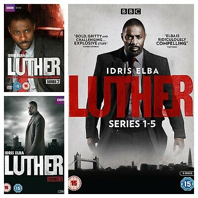 Luther DVD Series 1 2 3 4 5 Box Set Complete Season 1-5 Collections Sets - Idris