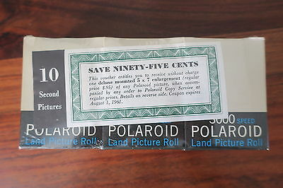Polaroid Land Picture Roll 3000 Speed / Type 37 New Product /1961