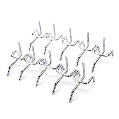 10pc Metal Peg Board Pegboard Hooks Garage Work Shop Storage Display Steel CPNS