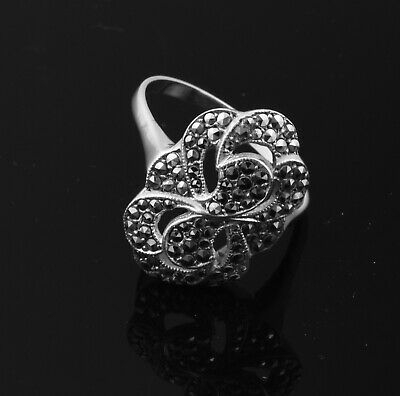 Beautiful Sterling Silver Marcasite Ring ~ Very Pretty