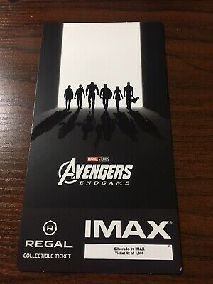 Avengers Endgame Week 2 Regal Collectible IMAX Ticket