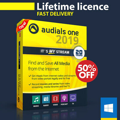 Audials One Platinum 2019 🔝 Lifetime LICENSE KEY 🔐 Instant Delivery 📩+ Gift🎁
