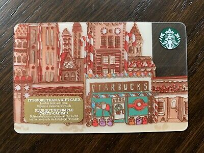 "Canada Series Starbucks ""GINGERBREAD CITY 2017"" Gift Card - New No Value"