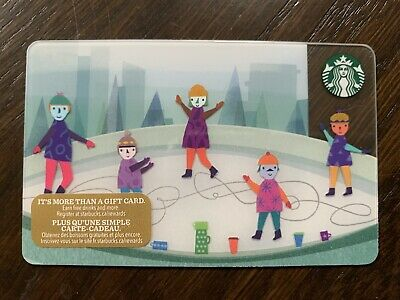 "Canada Series Starbucks ""ICE RINK 2017"" Gift Card - New No Value"