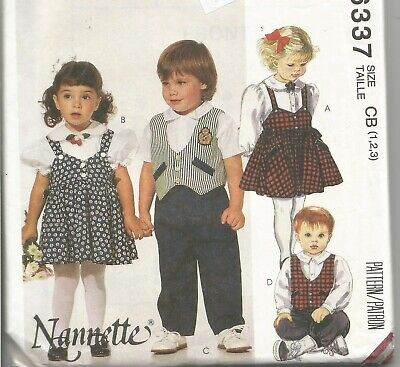 Toddler's Jumper, Tops, Vest, Pants, Knickers Pattern McCall 6337, Size 1-3, UC
