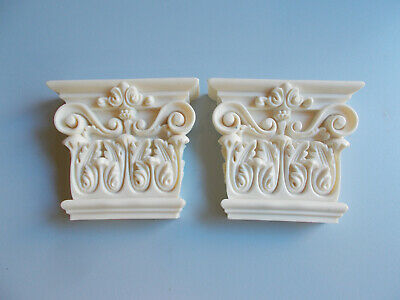 Ornate Wall Corbels  Furniture Fire Place Shelf Supports Resin White In Colour