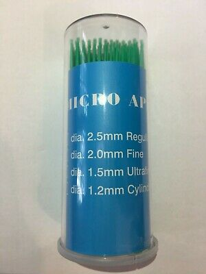 400 PCS Micro Applicator Brushes Disposable 1.5mm /2.0mm