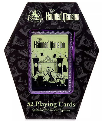 Disney Parks 50th Anniversary Haunted Mansion 52 Playing Cards Coffin Box NEW