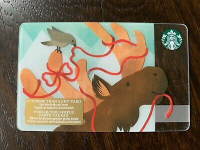 "Canada Series Starbucks ""HOLIDAY MOOSE 2018"" Gift Card - New No Value"