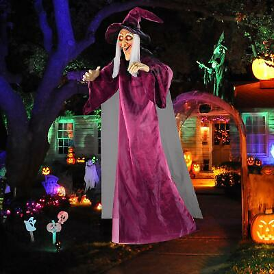 Hanging Witch Talking Halloween Animated Prop Life Size Haunted 71 Decor House