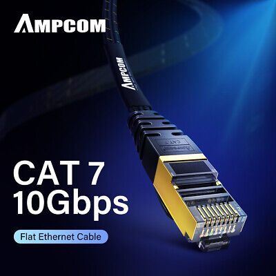 AMPCOM Cat7 Ethernet Cable Lan Network RJ45 Patch Cable Cord For PC Laptop