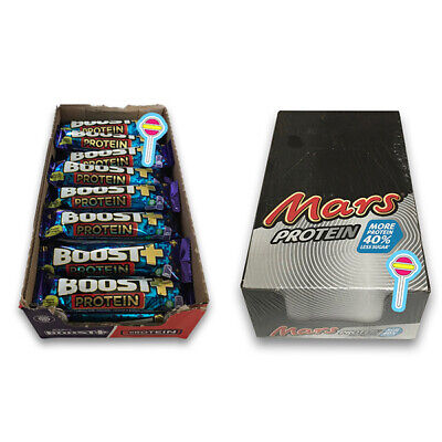 24 x Boost Protein Bars & 18 Mars Protein Bars | 2 Sealed Cases | See Desc