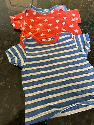 Baby Girl Stripe T-Shirt Embroidered Animal Ex Baby Boden Age 3 6 12 18 24 Month