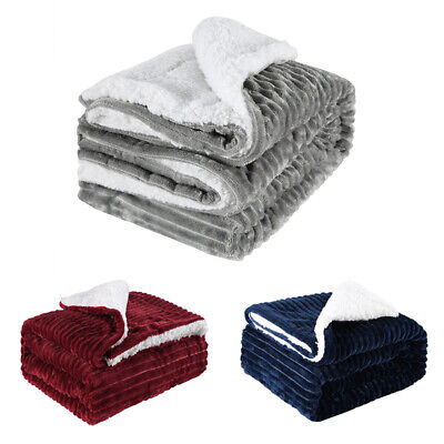 Bedsure Sherpa Blanket Fleece Throw Reversible Warm Blanket for Bed and Couch