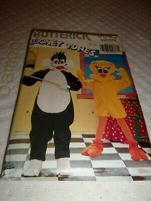 Halloween Costume Pattern Butterick 5043 Child Size S to XL Sylvester & Tweety