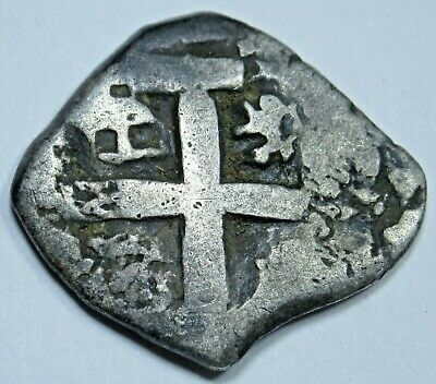 1769 Spanish Silver 1 Reales Cob Piece of 8 Real Colonial Pirate Treasure Coin