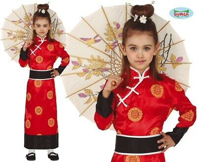 Childs Girls Chinese Fancy Dress Costume Kids China Girl Oriental Outfit fg