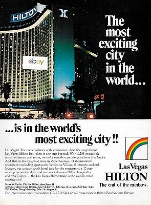 Las Vegas Hilton Hotel The Most Exciting City In The World 1979 Ad