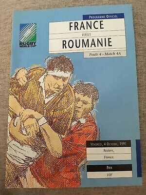 France V Roumanie 1991 Rugby World Cup Programme