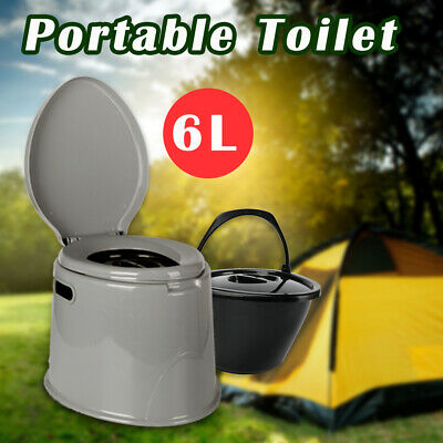 6L Outdoor Portable Toilet Camping Potty Caravan Travel Camp Boating