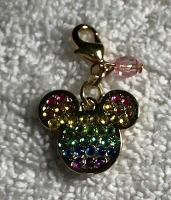 Disney Parks Charmed In The Park Gem Rainbow Mickey Mouse Icon Charm