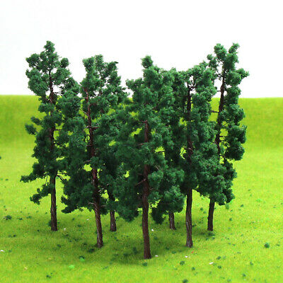 D8030 20-80pcs O HO Scale Layout Iron Wire Model Trees 80mm Railroad Scenery